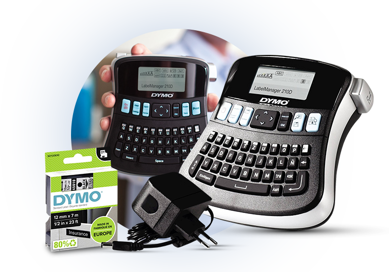 Dymo LabelManager 210D Label Printer Kit