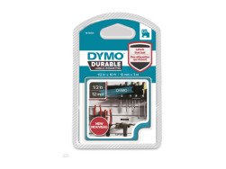 D1 Durable labels 12 mm x 3m -white/black