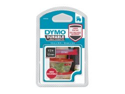 D1 Durable labels 12 mm x 3m - white/red