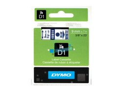 Dymo D1 Standard Labels 9mm x 7m blue/white