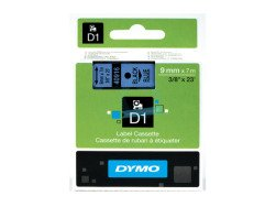 Dymo D1 Standard Labels 9mm x 7m black/blue