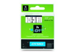 Dymo D1 Standard Labels 6mm x 7m black/transparent