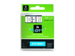 Dymo D1 Standard Labels 12mm x 7m black/transparent