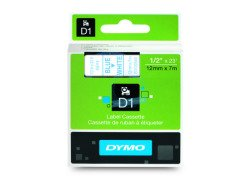 Dymo D1 Standard Labels 12 mm x 7m blue/white