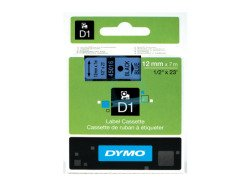Dymo D1 Standard Labels 12mm x 7m black/blue