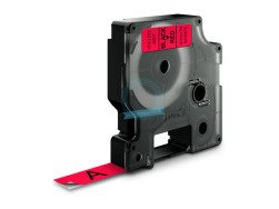 Dymo D1 Standard Labels 12mm x 7m black/red