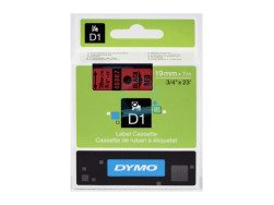 Dymo D1 Standard Labels 19mm x 7m black/red