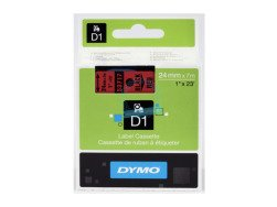 Dymo D1 Standard Labels 24mm x 7m black/red